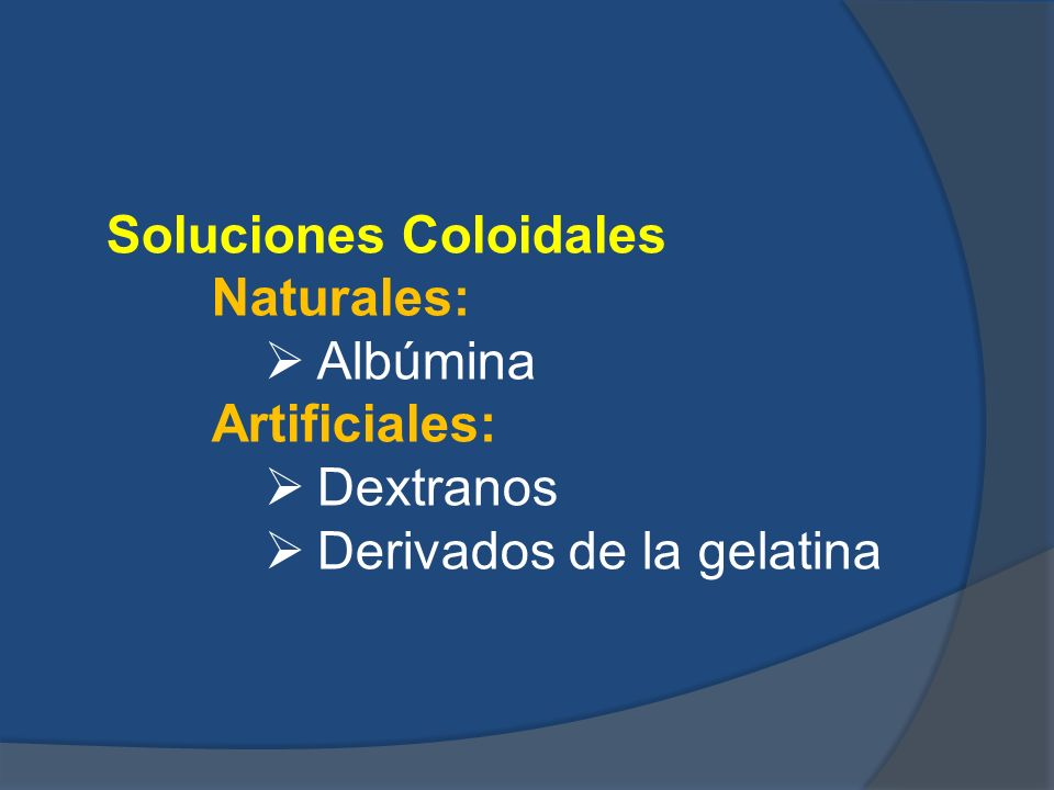 Soluciones Coloidales