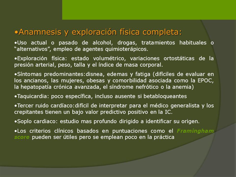 Anamnesis y exploración física completa: