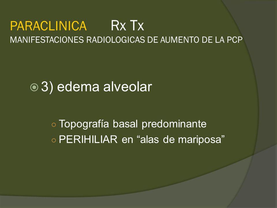 PARACLINICA Rx Tx MANIFESTACIONES RADIOLOGICAS DE AUMENTO DE LA PCP