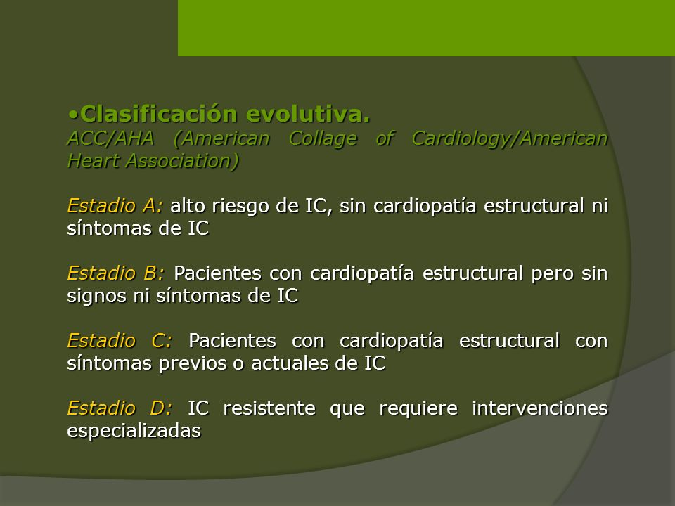Clasificación evolutiva.