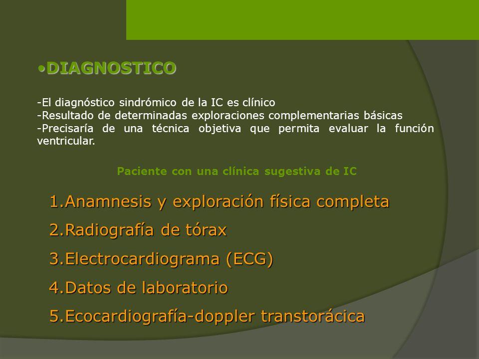 1.Anamnesis y exploración física completa 2.Radiografía de tórax