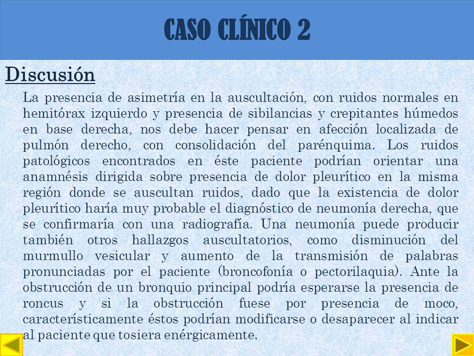 CASO CLÍNICO 2 Discusión