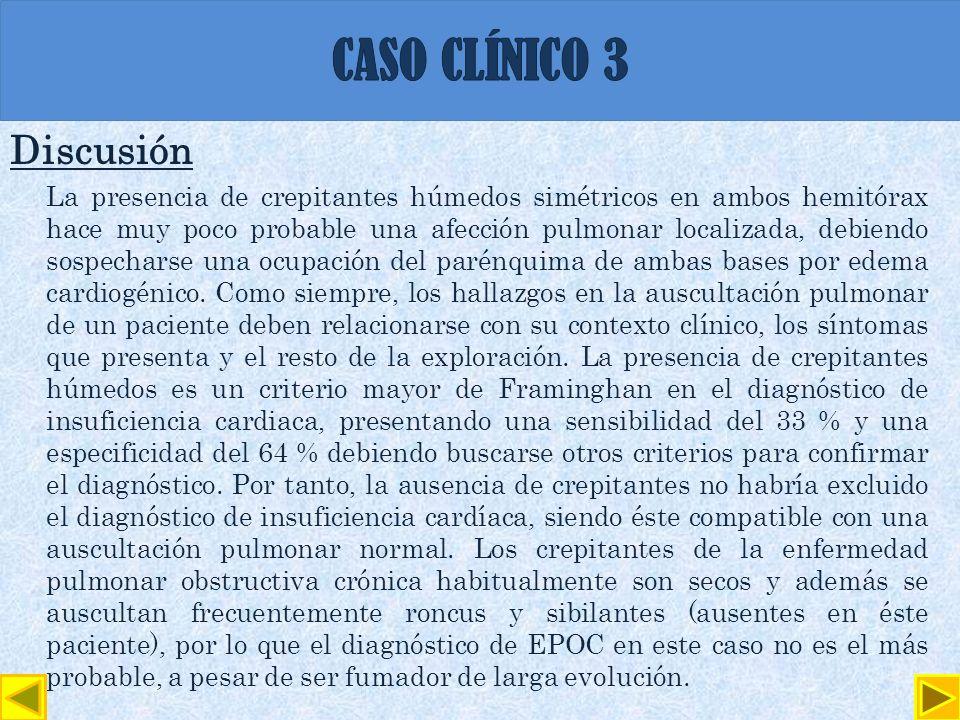 CASO CLÍNICO 3 Discusión