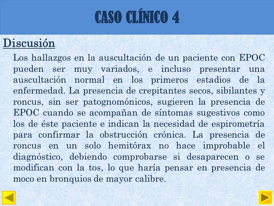 CASO CLÍNICO 4 Discusión