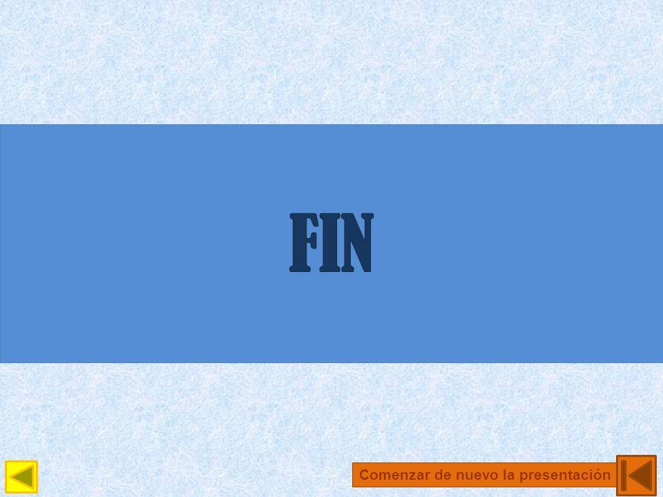 FIN Comenzar de nuevo la presentación