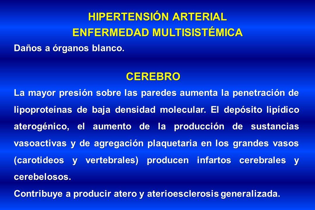 HIPERTENSIÓN ARTERIAL ENFERMEDAD MULTISISTÉMICA