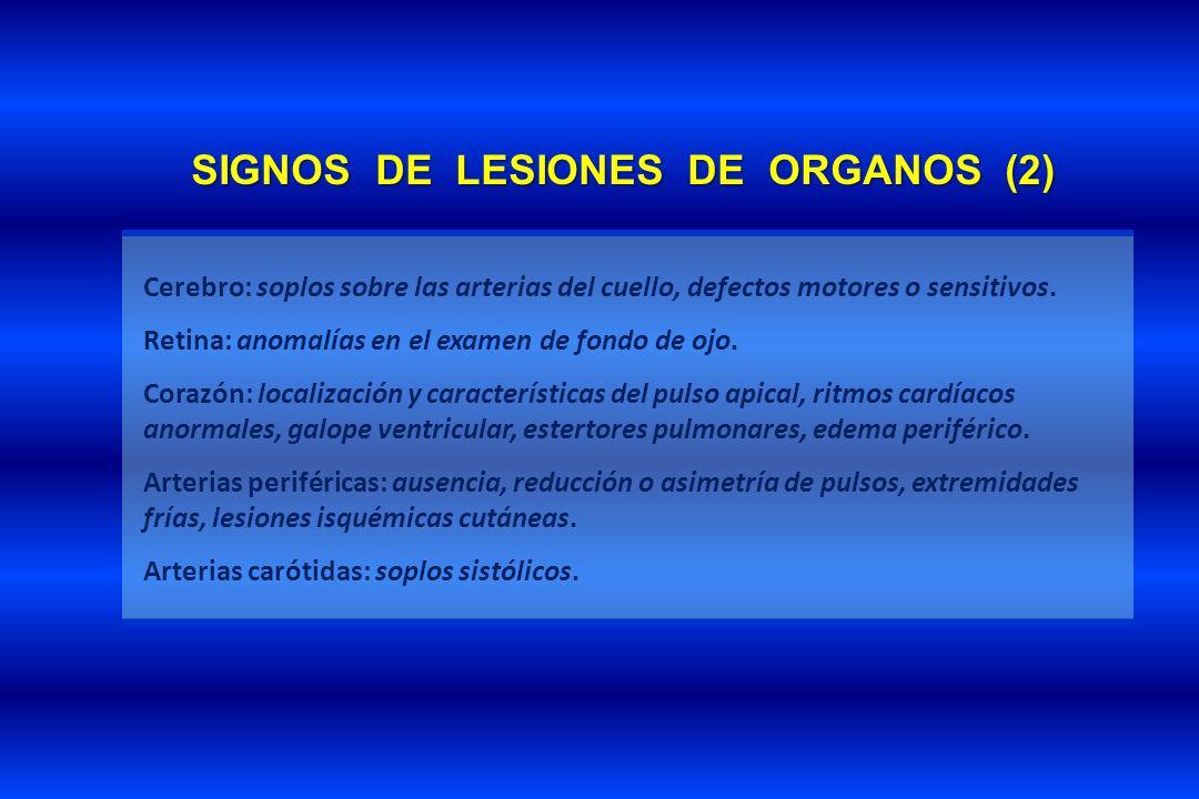 SIGNOS DE LESIONES DE ORGANOS (2)