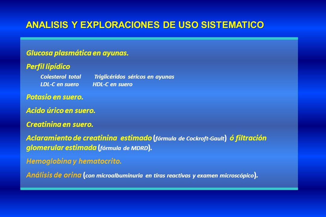ANALISIS Y EXPLORACIONES DE USO SISTEMATICO