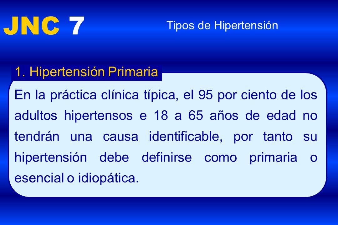 JNC 7 Hipertensión Primaria