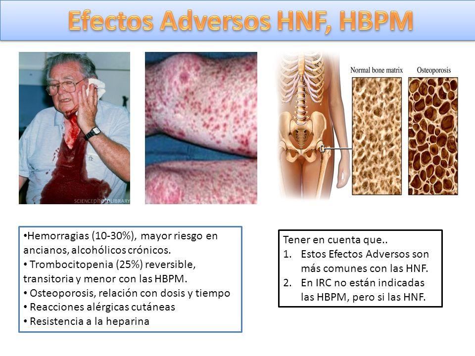 Efectos Adversos HNF, HBPM