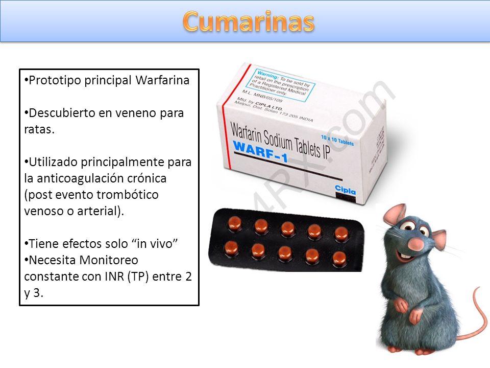 Cumarinas Prototipo principal Warfarina