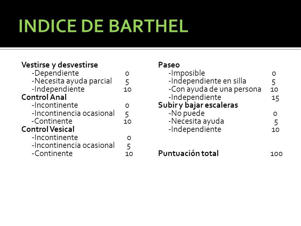 INDICE DE BARTHEL