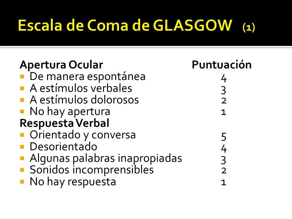 Escala de Coma de GLASGOW (1)