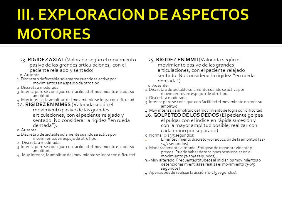 III. EXPLORACION DE ASPECTOS MOTORES