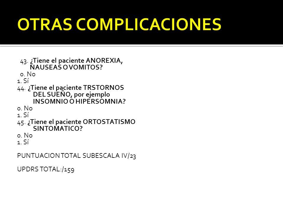 OTRAS COMPLICACIONES