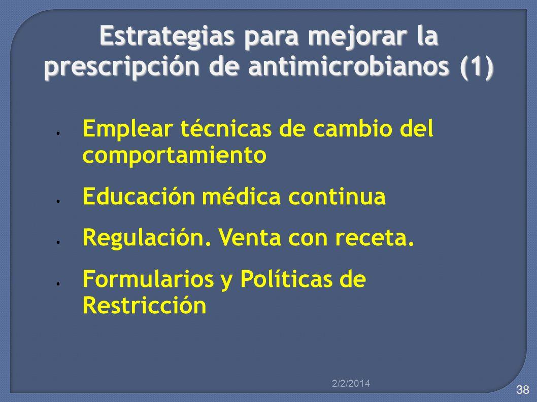 Estrategias para mejorar la prescripción de antimicrobianos (1)