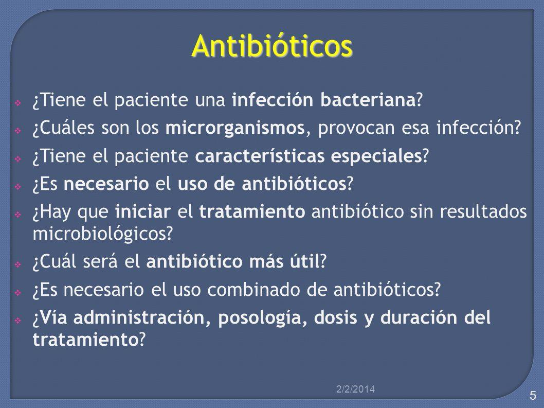 Antibióticos ¿Tiene el paciente una infección bacteriana