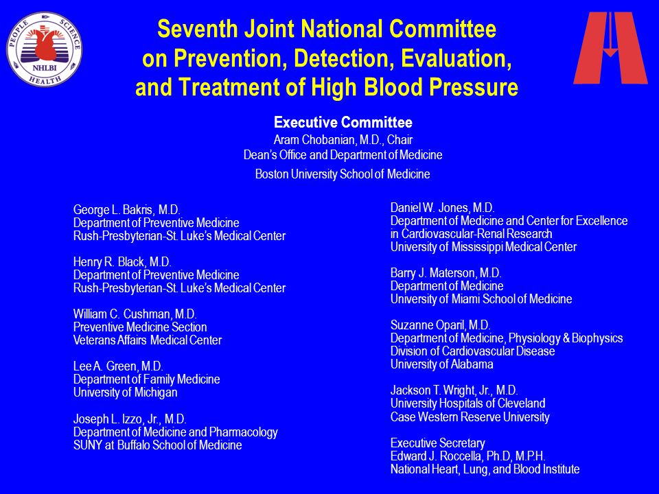 Seventh Joint National Committee on Prevention, Detection, Evaluation, and Treatment of High Blood Pressure
