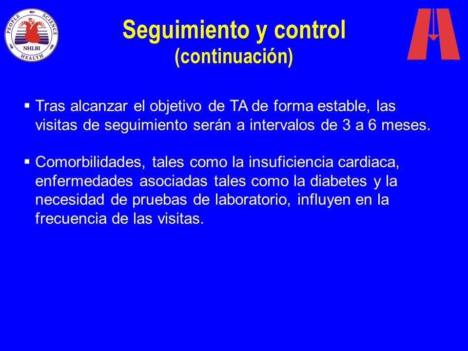Seguimiento y control (continuación)