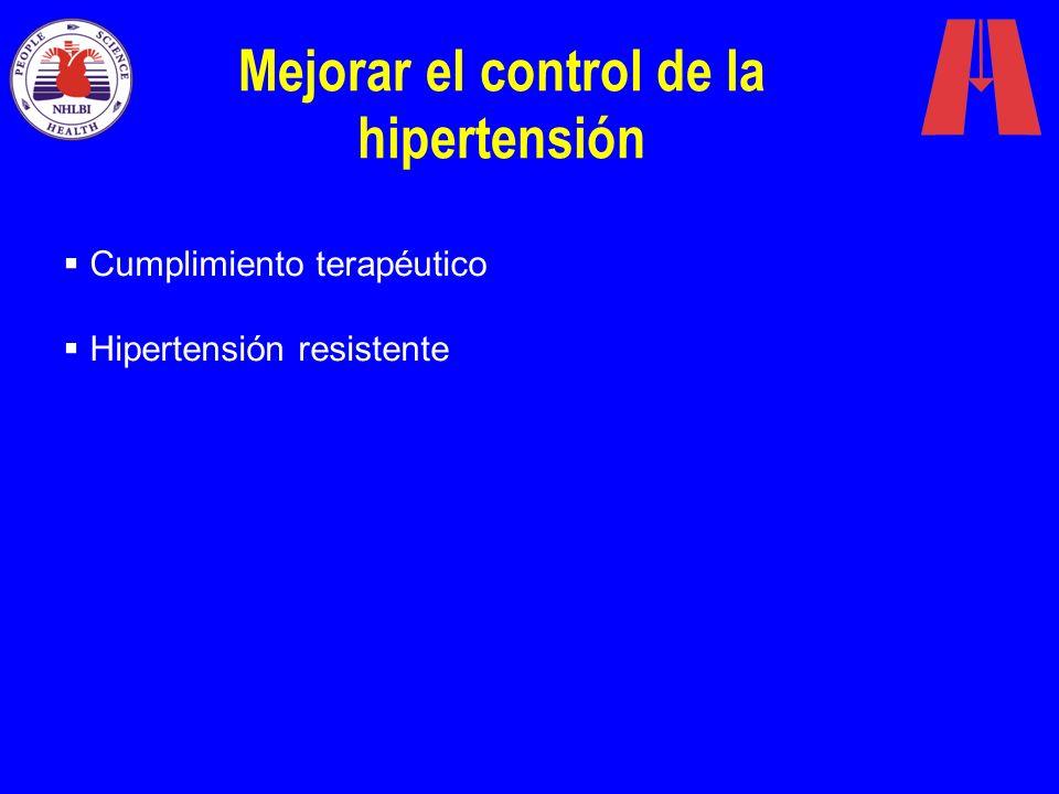 Mejorar el control de la hipertensión