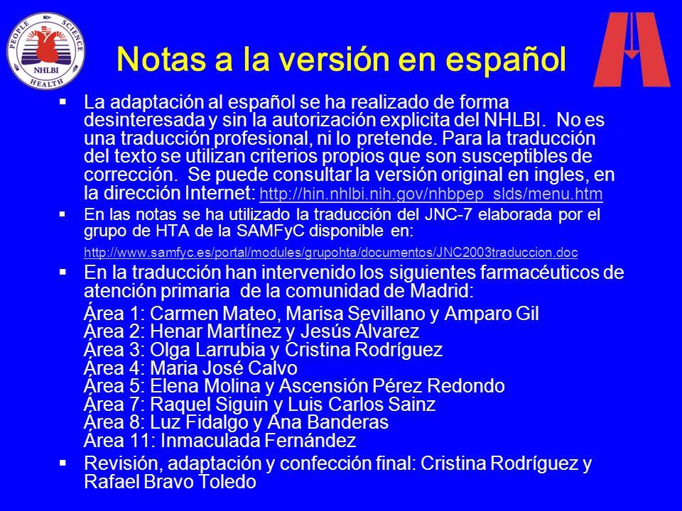 Notas a la versión en español