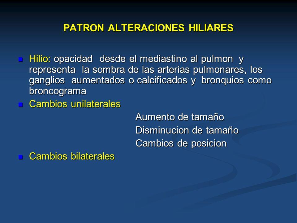PATRON ALTERACIONES HILIARES
