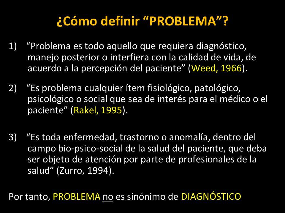 ¿Cómo definir PROBLEMA