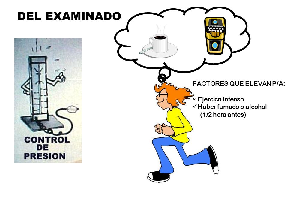 DEL EXAMINADO FACTORES QUE ELEVAN P/A: Ejercico intenso