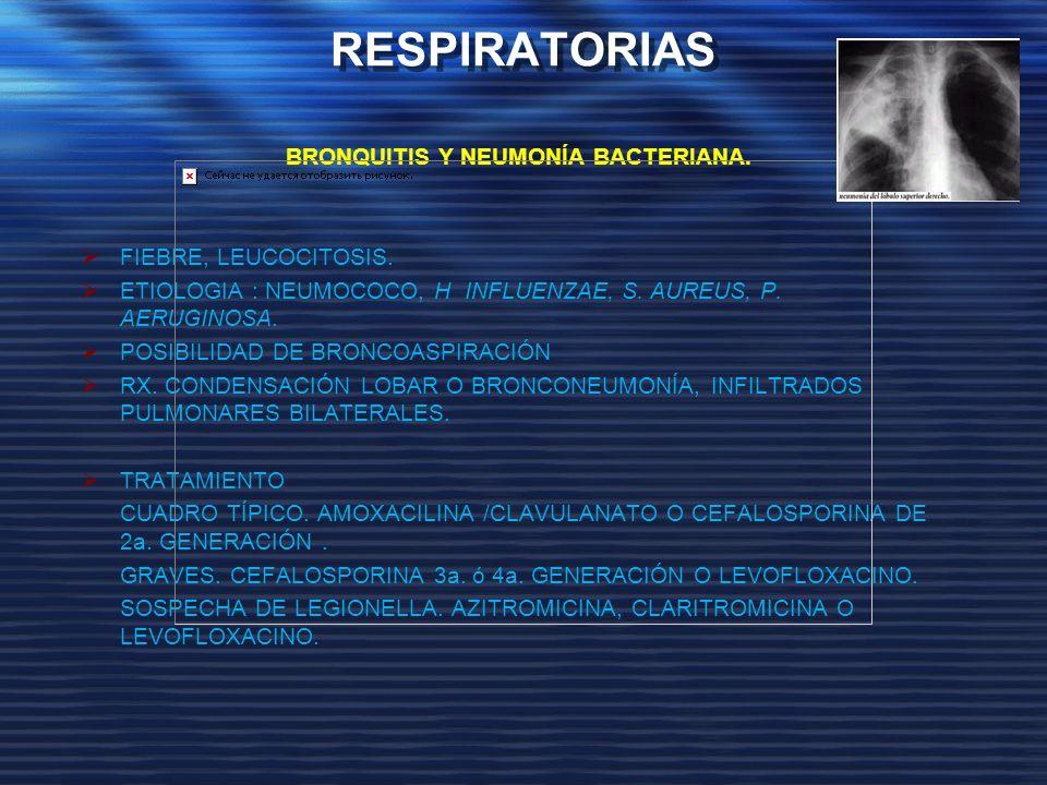 BRONQUITIS Y NEUMONÍA BACTERIANA.
