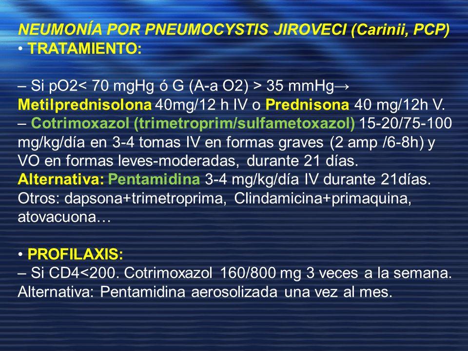 NEUMONÍA POR PNEUMOCYSTIS JIROVECI (Carinii, PCP)