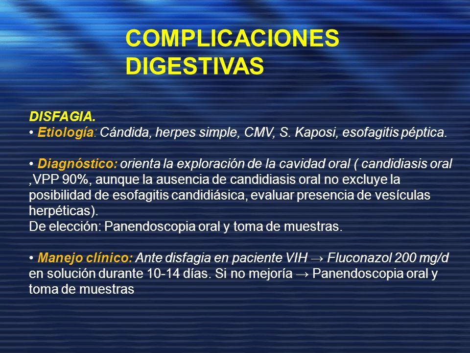 COMPLICACIONES DIGESTIVAS DISFAGIA.