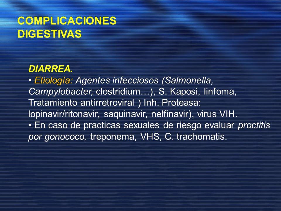 COMPLICACIONES DIGESTIVAS DIARREA.