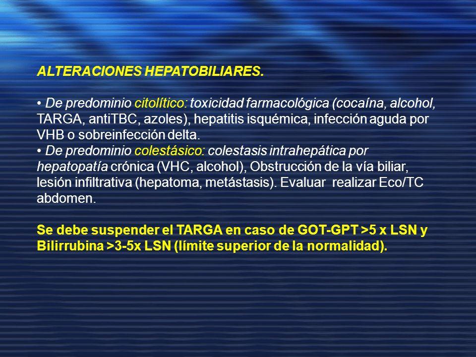 ALTERACIONES HEPATOBILIARES.