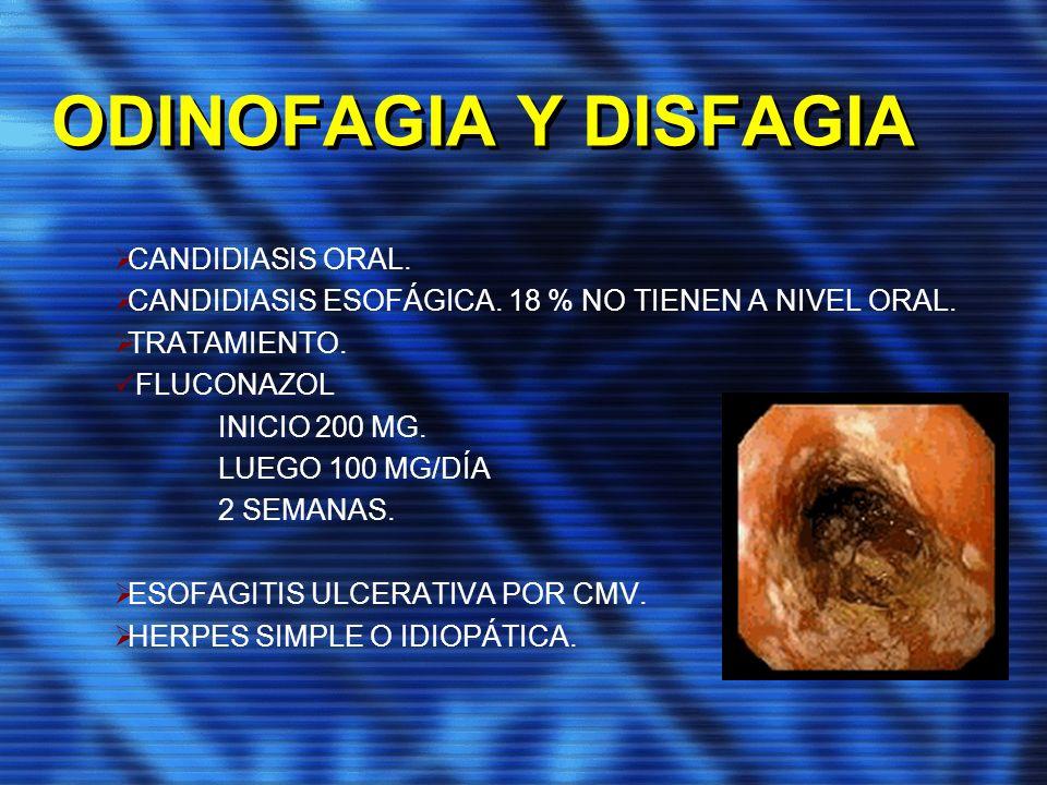 ODINOFAGIA Y DISFAGIA CANDIDIASIS ORAL.