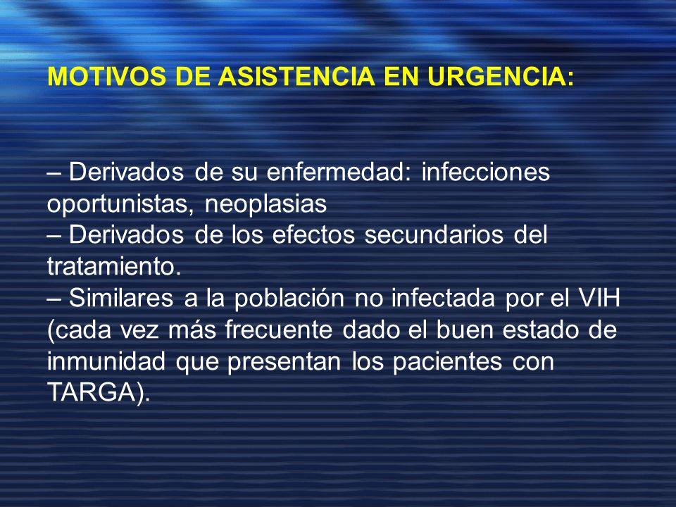 MOTIVOS DE ASISTENCIA EN URGENCIA: