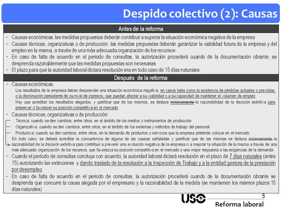 Despido colectivo (2): Causas