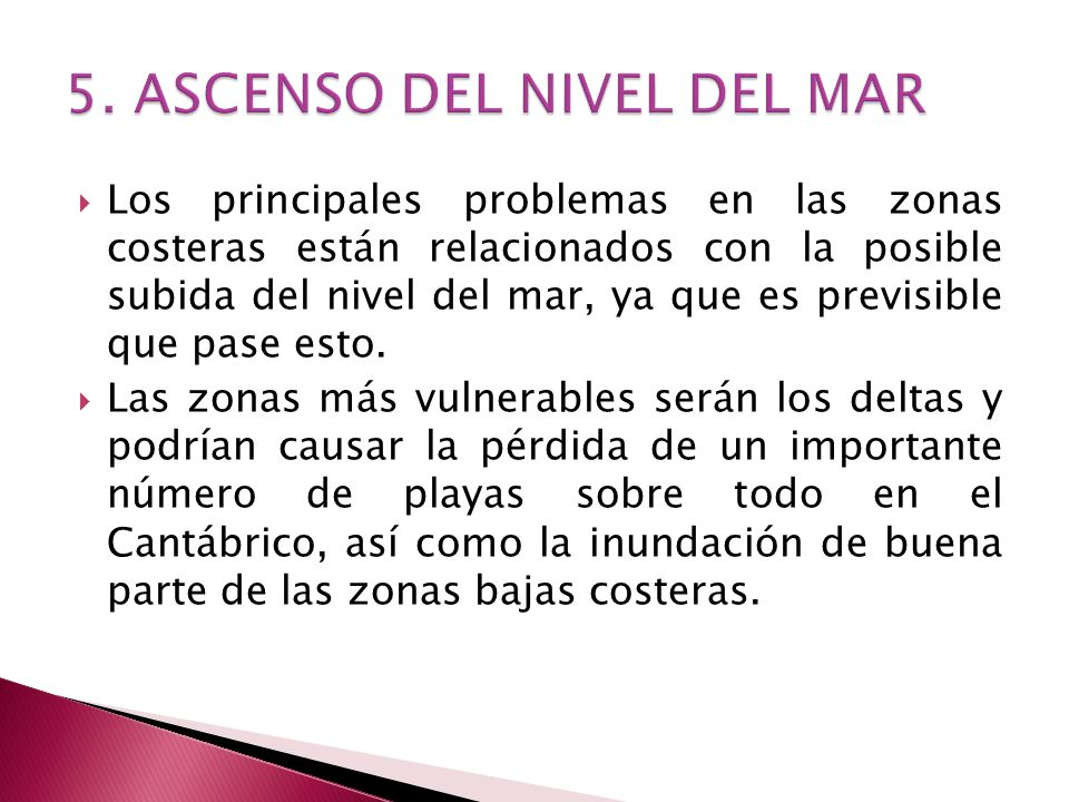 5. ASCENSO DEL NIVEL DEL MAR
