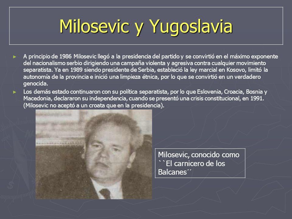 Milosevic y Yugoslavia