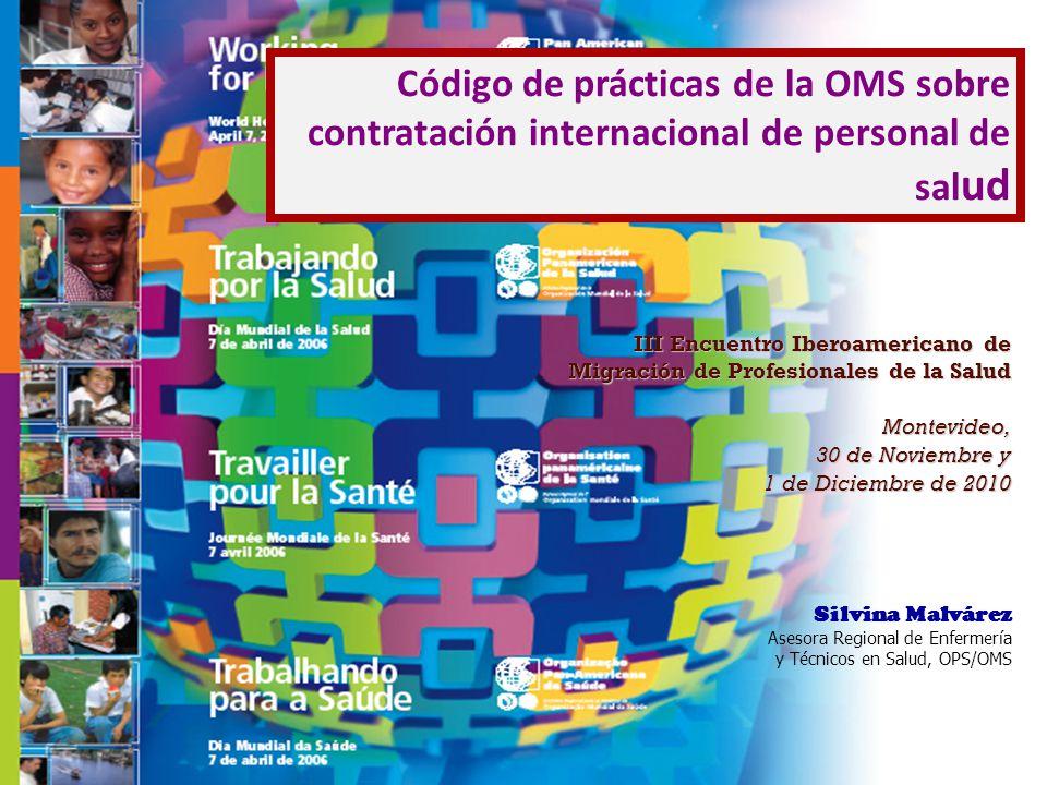 Código de prácticas de la OMS sobre contratación internacional de personal de salud