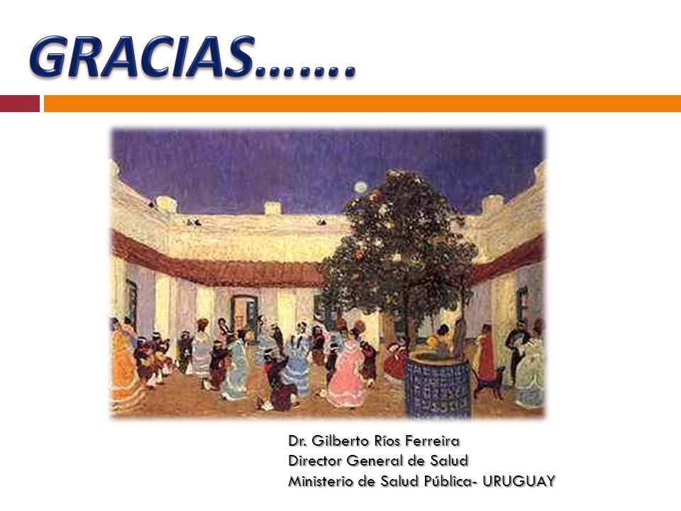 GRACIAS……. Dr. Gilberto Ríos Ferreira Director General de Salud