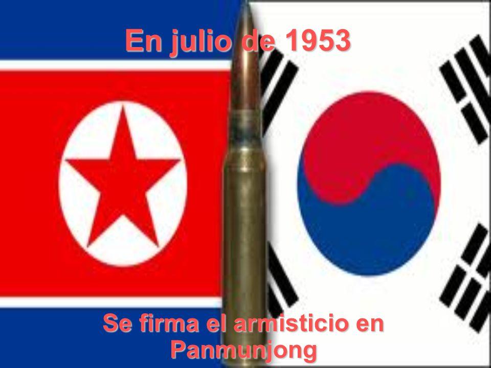 Se firma el armisticio en Panmunjong