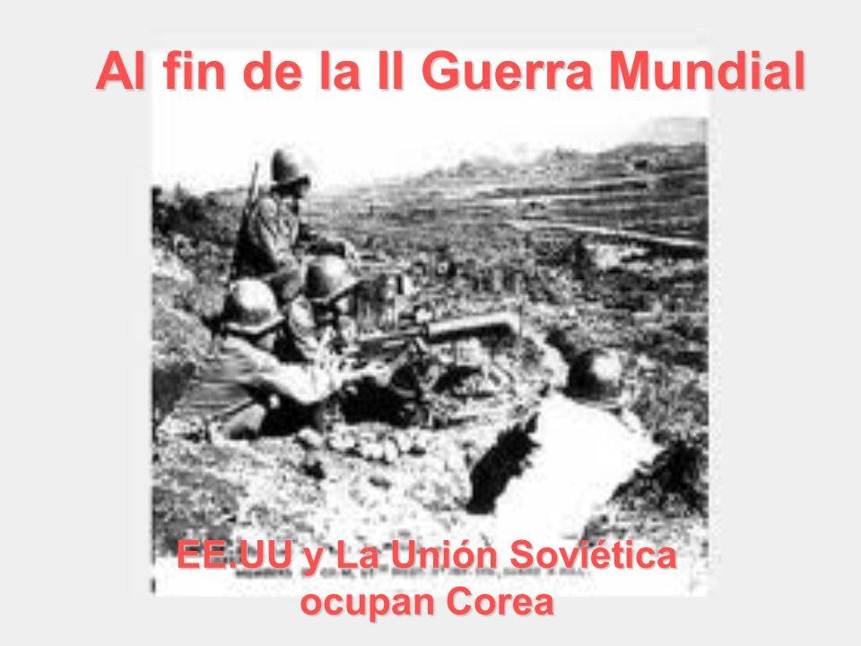 Al fin de la II Guerra Mundial