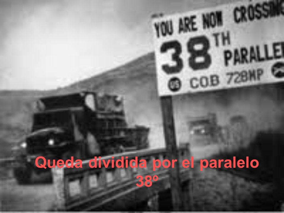 Queda dividida por el paralelo 38º