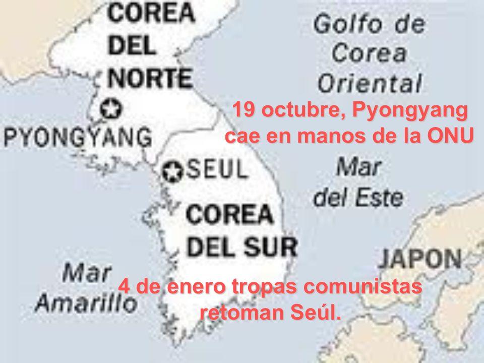 19 octubre, Pyongyang cae en manos de la ONU
