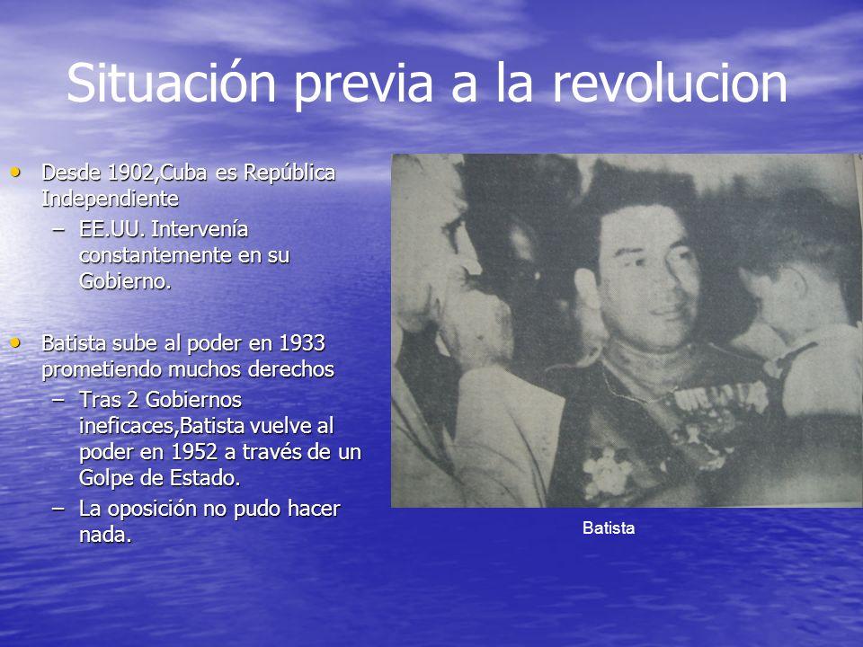 Situación previa a la revolucion