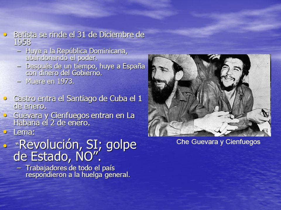 Batista se rinde el 31 de Diciembre de 1958