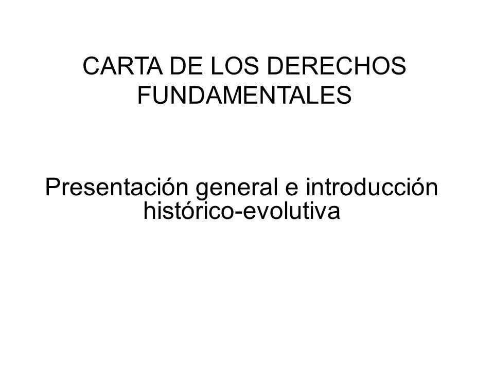 CARTA DE LOS DERECHOS FUNDAMENTALES