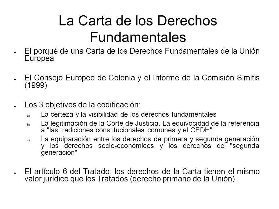 La Carta de los Derechos Fundamentales