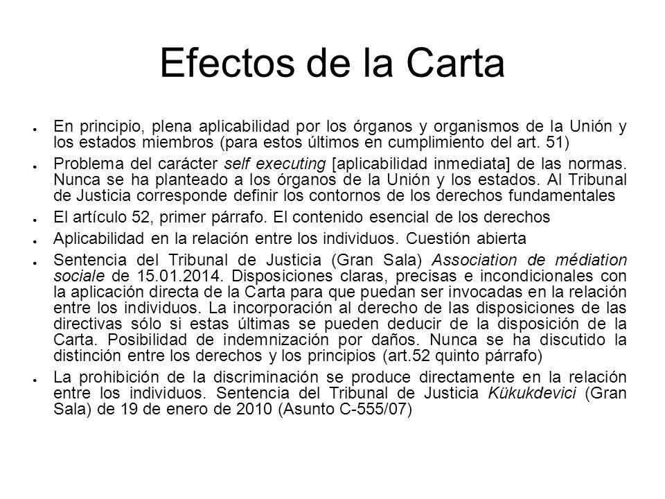 Efectos de la Carta