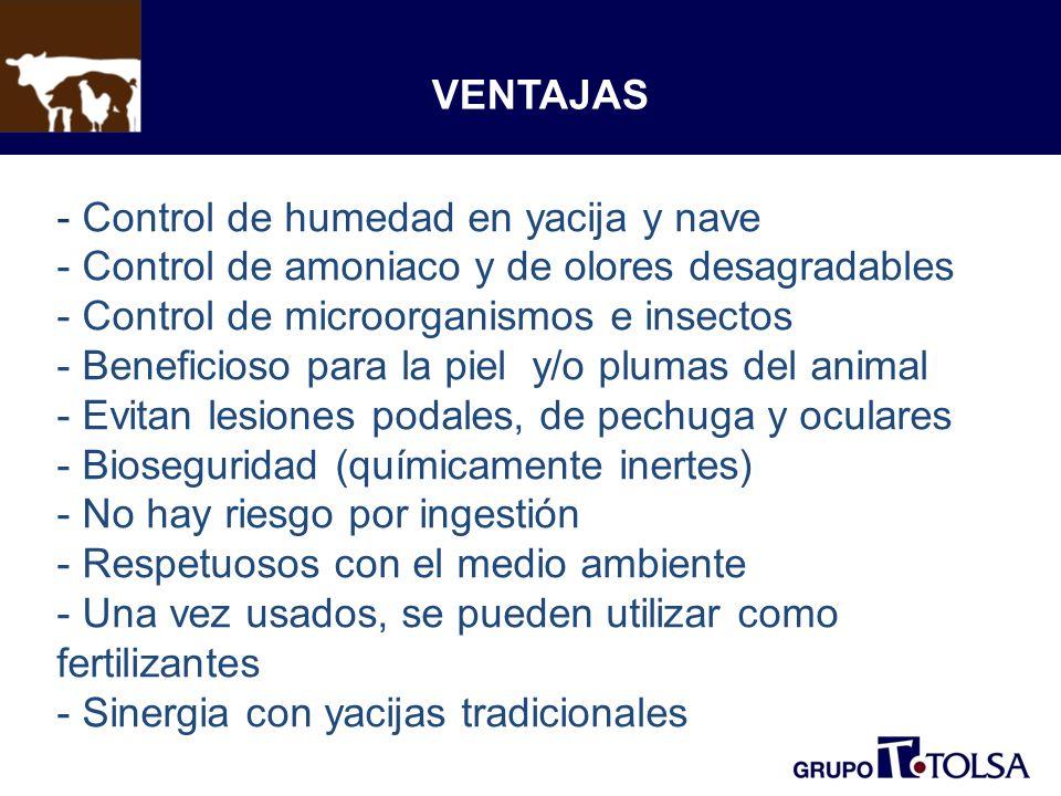 - Control de humedad en yacija y nave